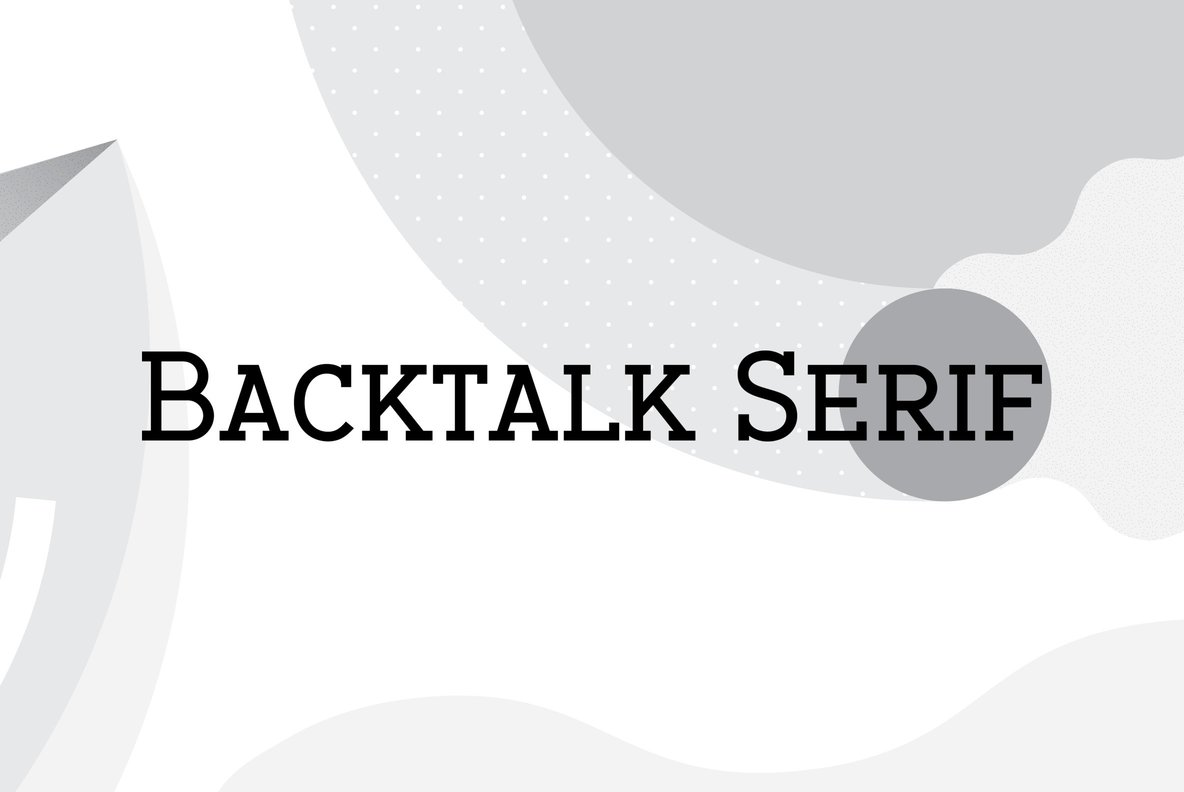 Backtalk Serif