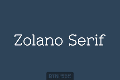 Zolano Serif