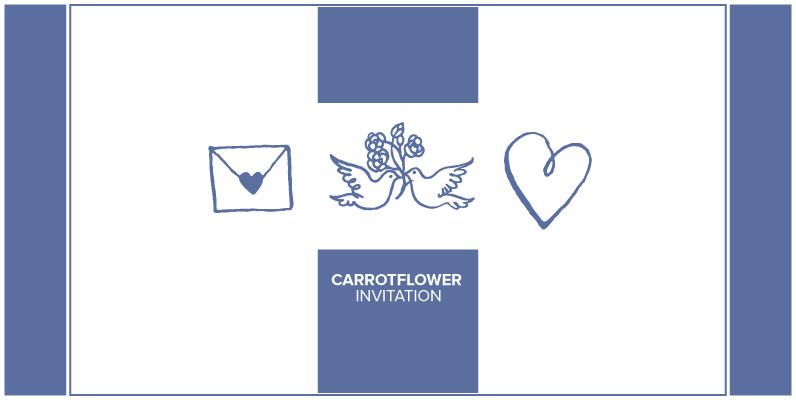 Carrotflower Invitation Icons