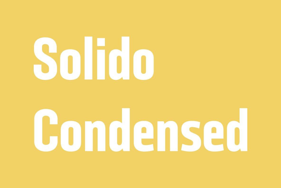 Solido Condensed