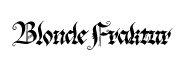 Blonde Fraktur