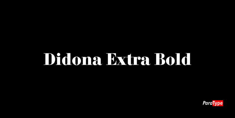 Didona Extra Bold