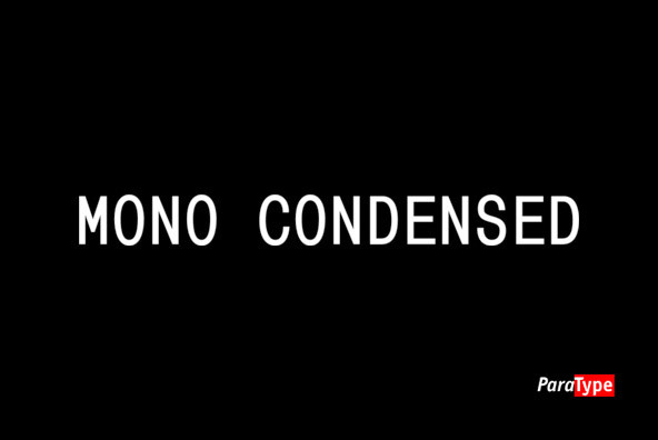 Mono Condensed