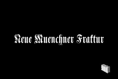 Neue Muenchner Fraktur