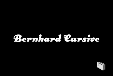 Bernhard Cursive