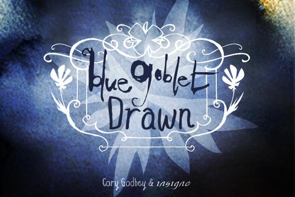 Blue Goblet Drawn