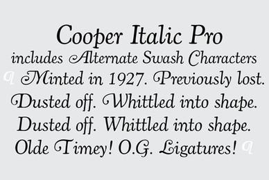 Cooper Italic Pro