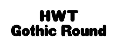 HWT Gothic Round