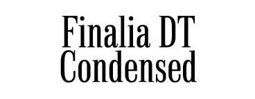 Finalia DT Condensed