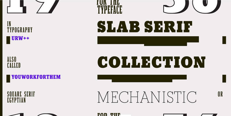 URW Slab Serif Collection