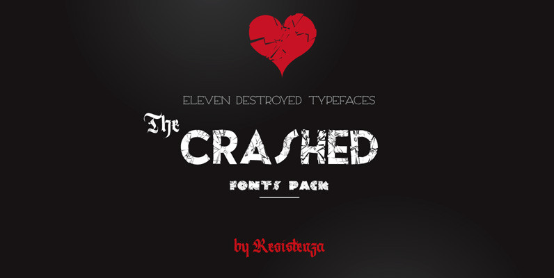 The Crashed Fonts Pack