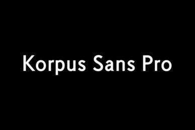 Korpus Sans Pro