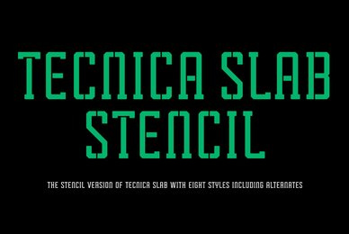 Tecnica Slab Stencil