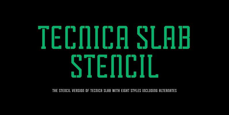 Tecnica Slab Stencil