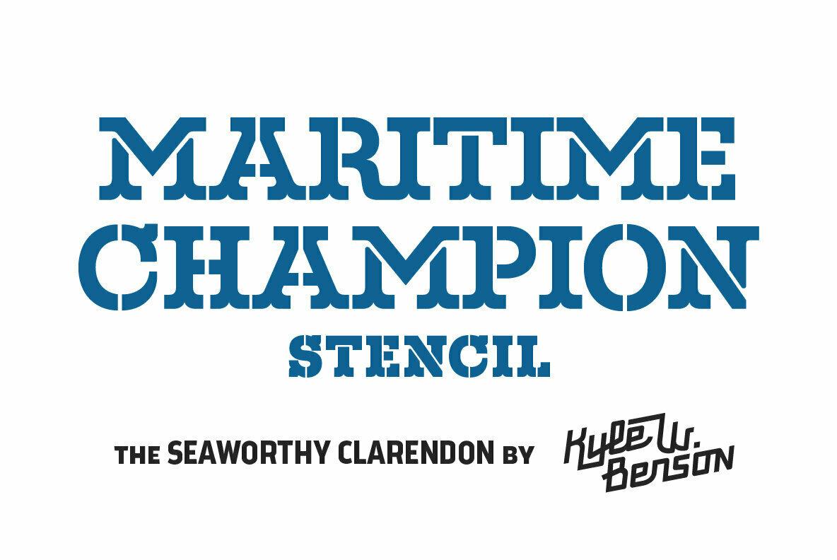 Maritime Champion Stencil