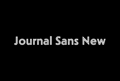 Journal Sans New