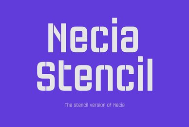 Necia Stencil