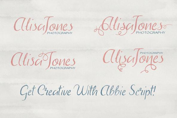 Abbie Script   Bonus Font