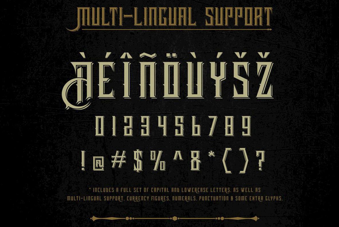 Harsh Typeface