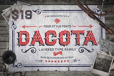 Dacota Layered Typeface