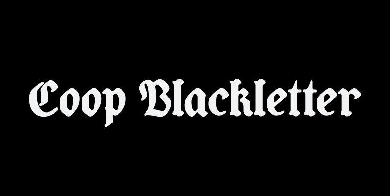 Coop Blackletter