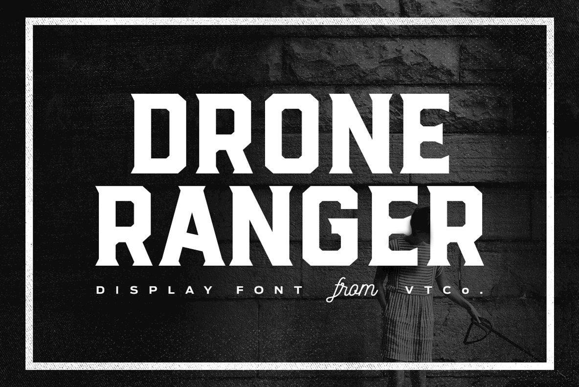 Drone ranger desktop font webfont youworkforthem fandeluxe Images