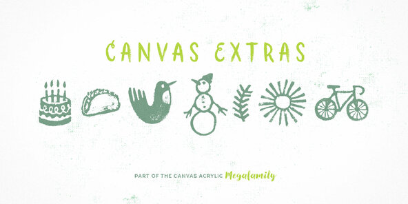 Canvas Acrylic Megafamily