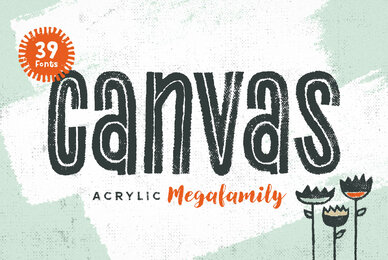 Canvas Acrylic Megafamily