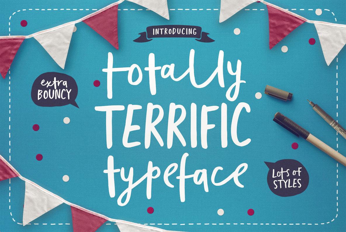 Totally Terrific Typeface