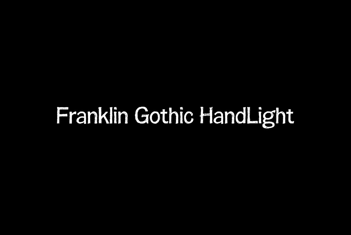 Franklin Gothic Hand Light