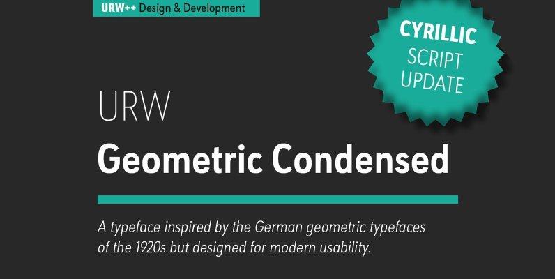 URW Geometric Condensed