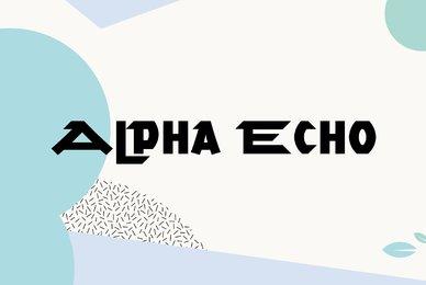 Alpha Echo