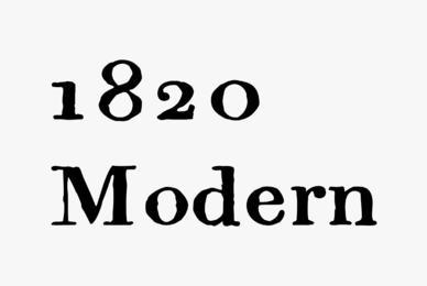 1820 Modern