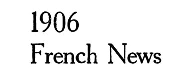 1906 French News