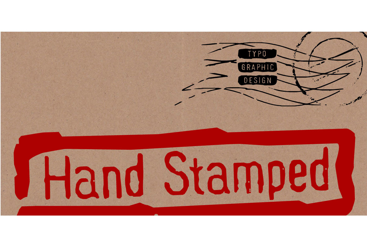 Hand Stamp Gothic Rough
