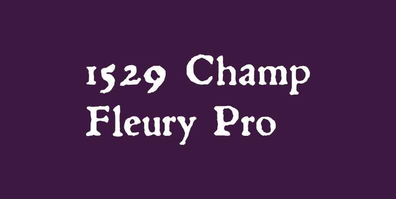 1529 Champ Fleury Pro