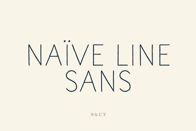Naive Line Sans