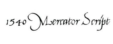 1540 Mercator Script