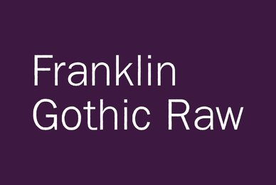Franklin Gothic Raw