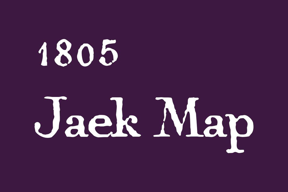 1805 Jaeck Map