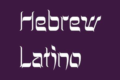 Hebrew Latino