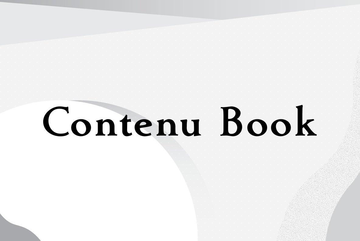 Contenu Book