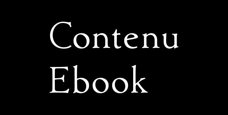 Contenu Ebook