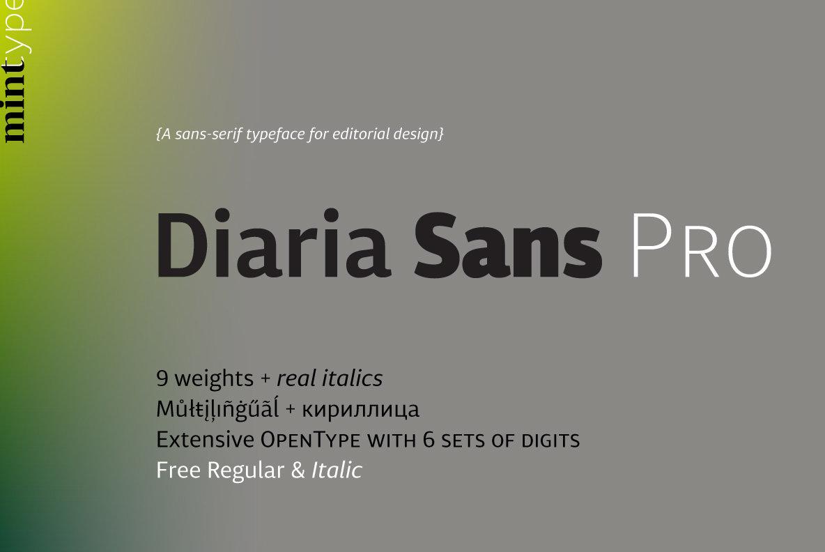 Diaria Sans Pro