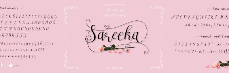 Sareeka Script