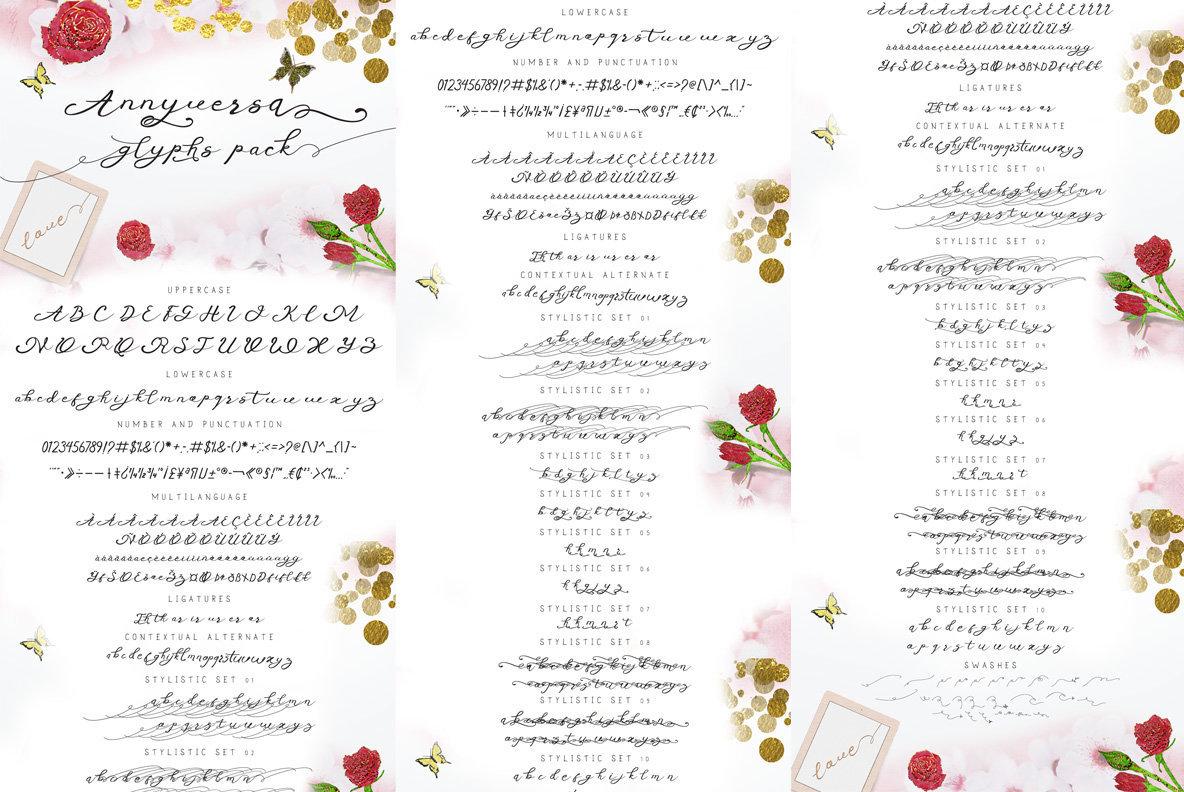 Anniversa   Wedding Font