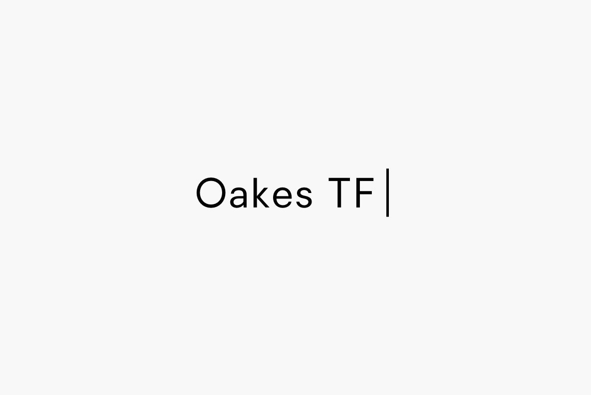 Oakes Typeface