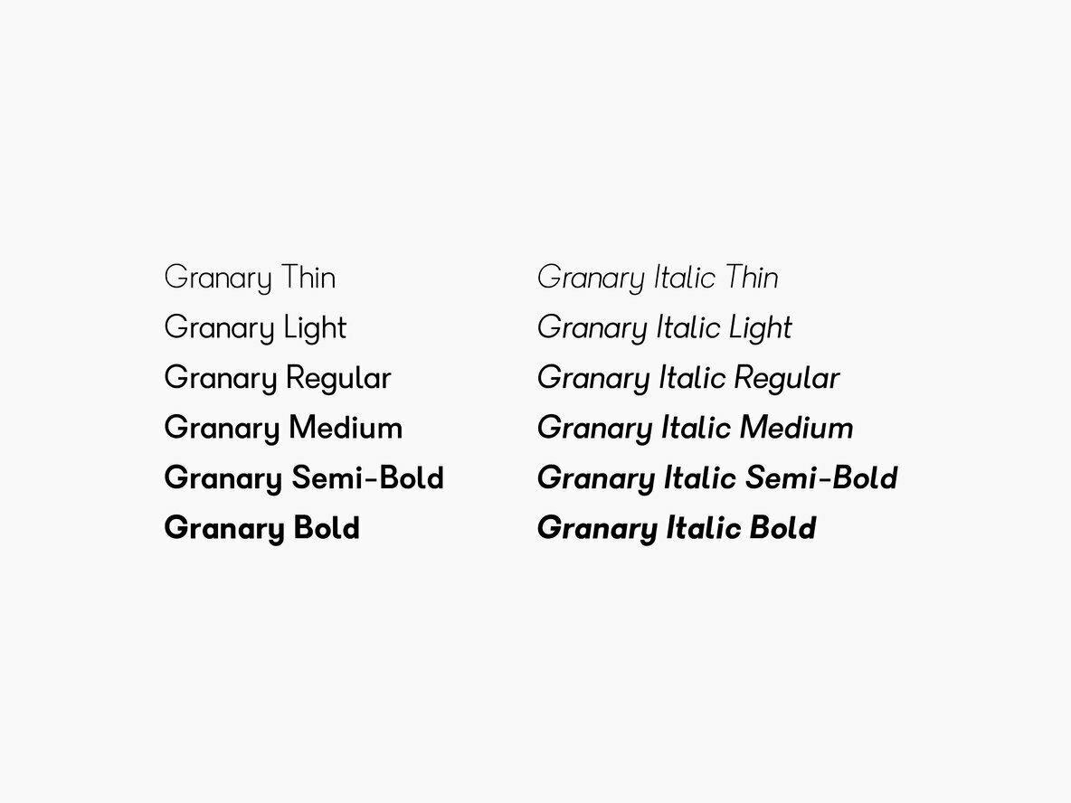 Granary Typeface