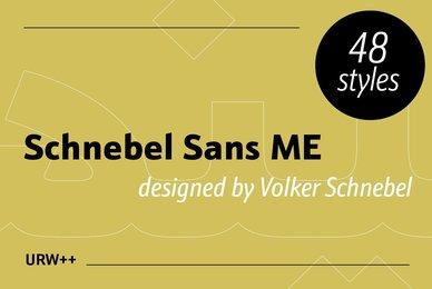 Schnebel Sans Pro ME