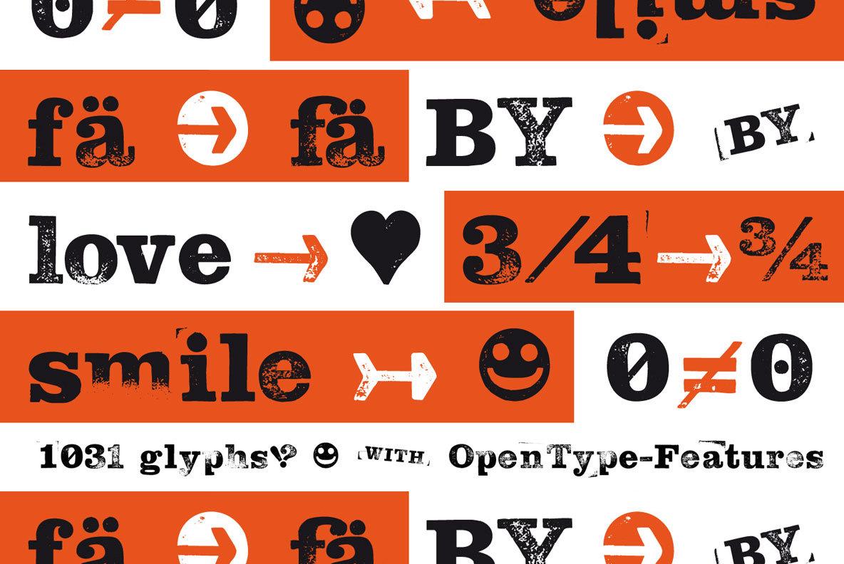 Hand Stamp Slab Serif Rough